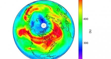 Aparición de un gran agujero en la capa de ozono en el Ártico