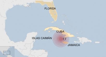 Terremoto de 7,7 sacude al Mar Caribe entre Cuba y Jamaica