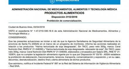 ANMAT prohibió la comercialización de dos productos