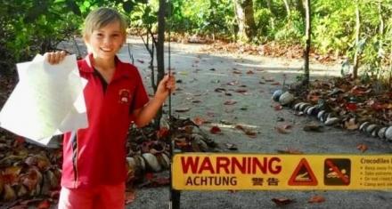 Australia: Un niño defiende a un cocodrilo de 4 metros
