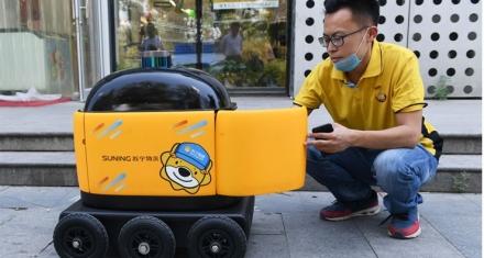 Robots que hacen delivery en China