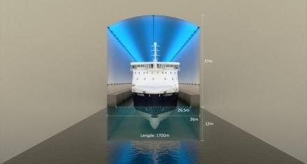 Noruega: Construyen el primer gran túnel para barcos del mundo