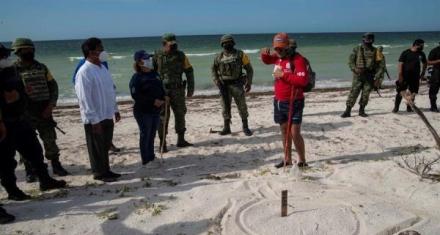 México: Los soldados que cuidan de las tortugas marinas en las playas