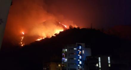 Venezuela:Incendio en zona de montaña que abastece de agua a Caracas