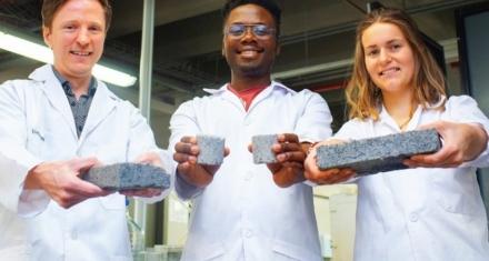 Estudiante diseñó ladrillos ecológicos con orina humana