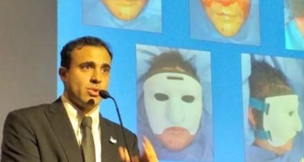 Primera mascara 3D para reconstrucción facial creada por cirujanos argentinos