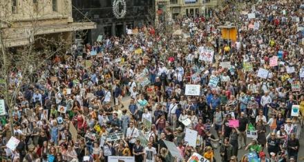 Los estados insulares de Oceanía y Australia abren los actos de protesta organizados por el movimiento juvenil Fridays For Future