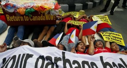 Filipinas quiere devolver a Canadá toneladas de basura