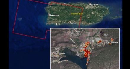 Puerto Rico: Cómo los sismos cambiaron la forma en que se ve la isla desde el espacio