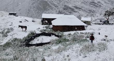 Colombia: atípica nevada en el Parque Nacional Natural El Cocuy