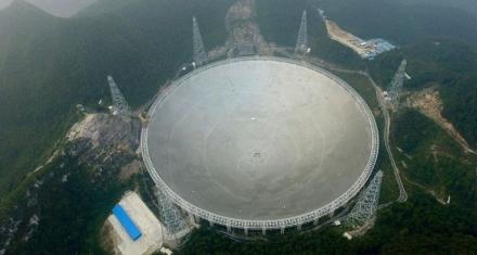 El radiotelescópio más grande del mundo en China