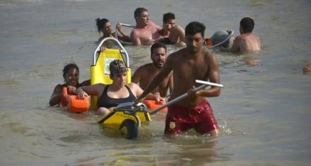 Buenos Aires: La primera playa inclusiva del país está en Villa Gesell