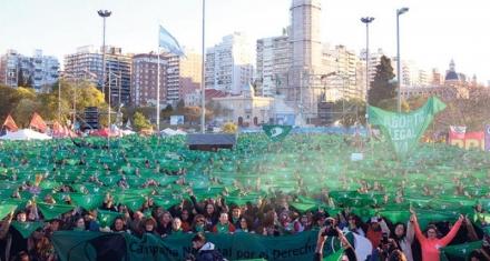 La marcha que se tiñó de verde