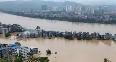China: Registros históricos en más de 30 ríos debido a las lluvias