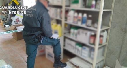 La Guardia Civil intervino 63 toneladas de pesticidas ilegales junto a Europol