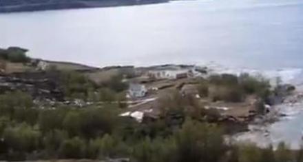 Noruega: Sorprendente deslizamiento de una ladera