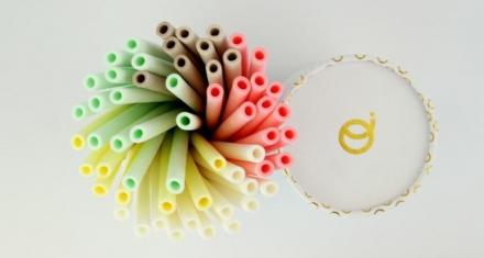 Pajitas comestibles compiten contra las de plástico