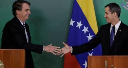 Bolsonaro le ofrece apoyo político a Guaidó en Brasilia