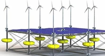 Energía Renovable: Lanzan una plataforma única que une tres fuentes a la vez, solar, eólica y maremotriz