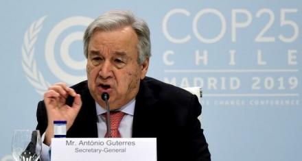 Antonio Guterres afirmó que el coronavirus es la crisis global
