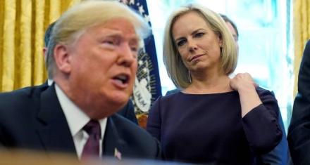 Renunció la secretaria de Seguridad Interior de Trump en plena crisis migratoria