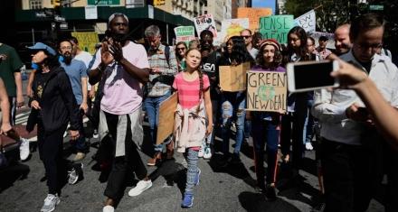La huelga por el clima en Nueva York con Greta Thunberg