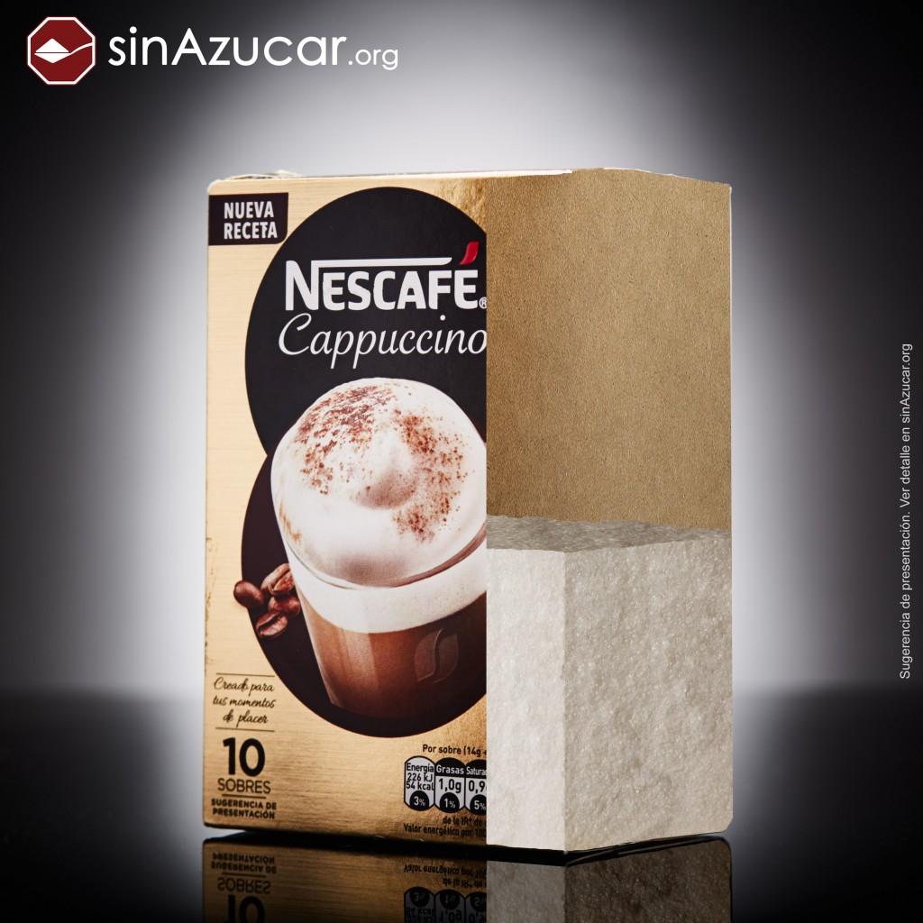 El Nescafé Cappuccino contiene un 50,5% de azúcar.