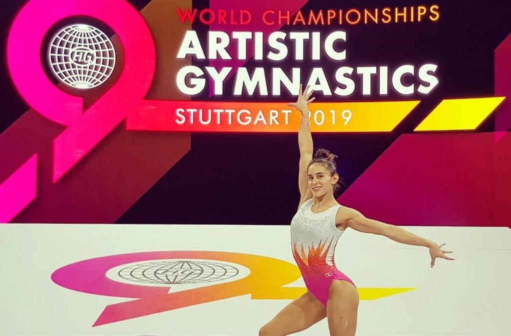 La gimnasta mexicana Elsa García, en Stuttgart. FACEBOOK
