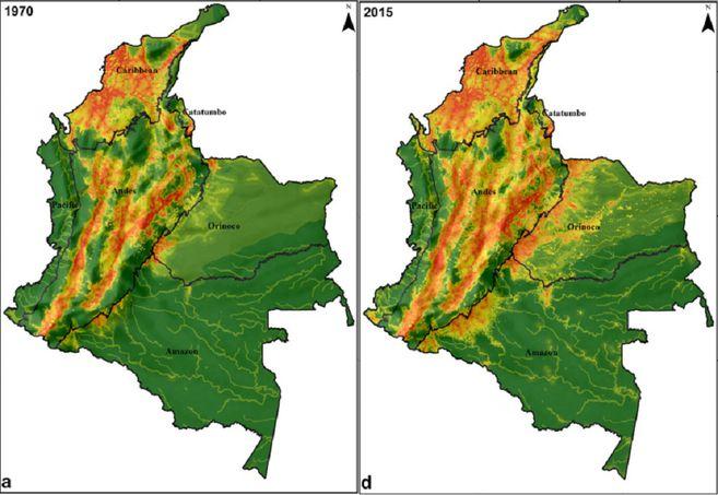 Índice de huella humana 1970/2015. Crédito: Correa et al. 2020