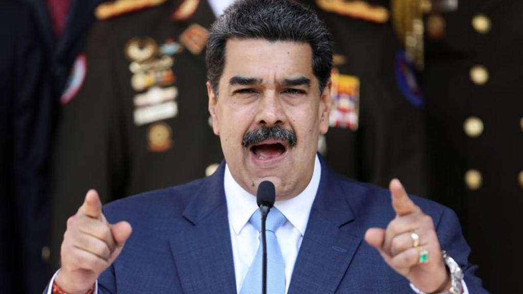 Imagen de archivo del presidente de Venezuela, Nicolás Maduro, hablando durante una conferencia de prensa en el Palacio de Miraflores, en Caracas, Venezuela.