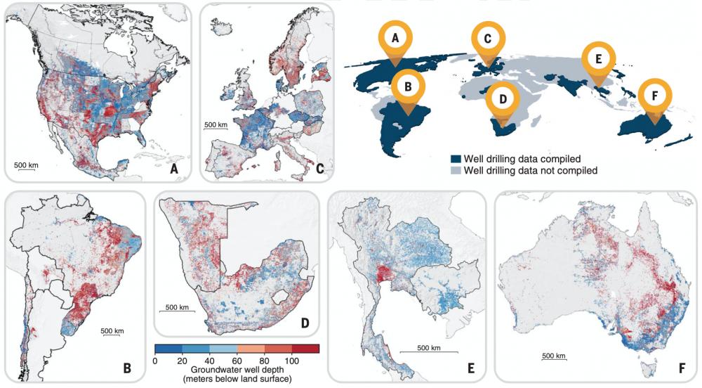 Global groundwater wells